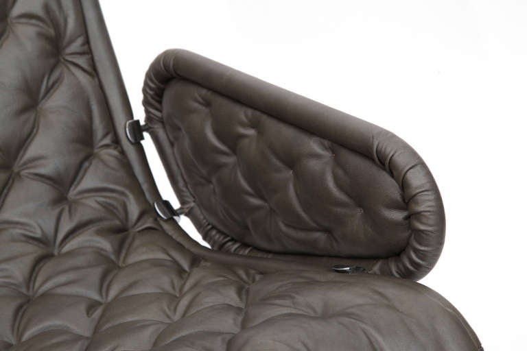 Verner Panton Fritz Hansen Leather 123 Chair For Sale 2