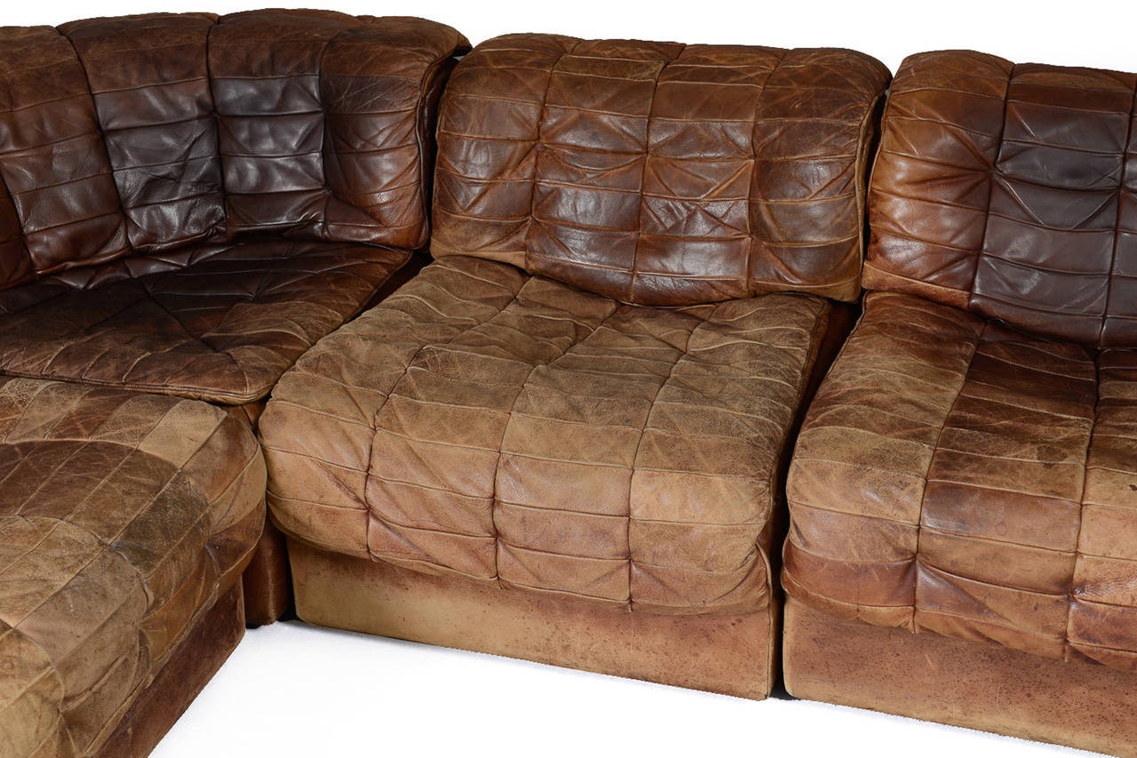 De Sede Patchwork.Seven Section Leather Patchwork Sofa By De Sede At 1stdibs