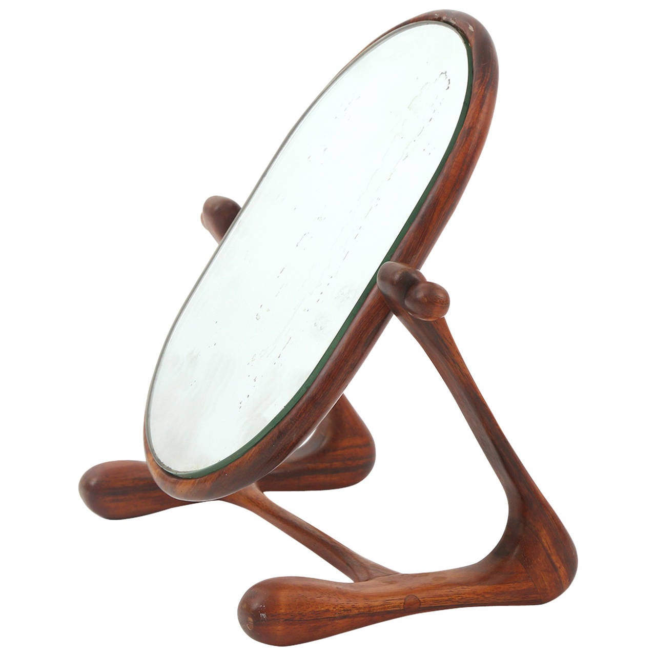 Sculptural Studio Cocobolo Mirror