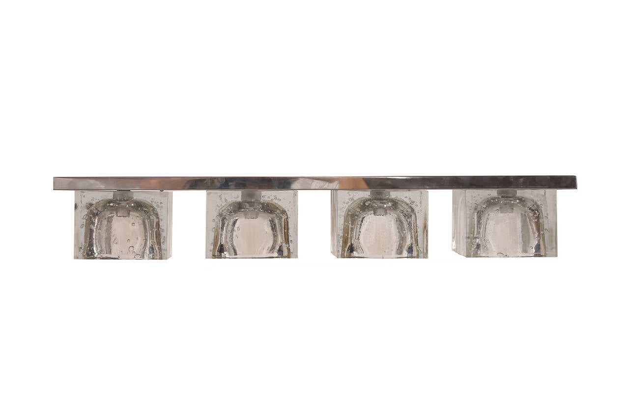 Three Crystal and Steel Sconces by Sciolari for Lightolier image 2