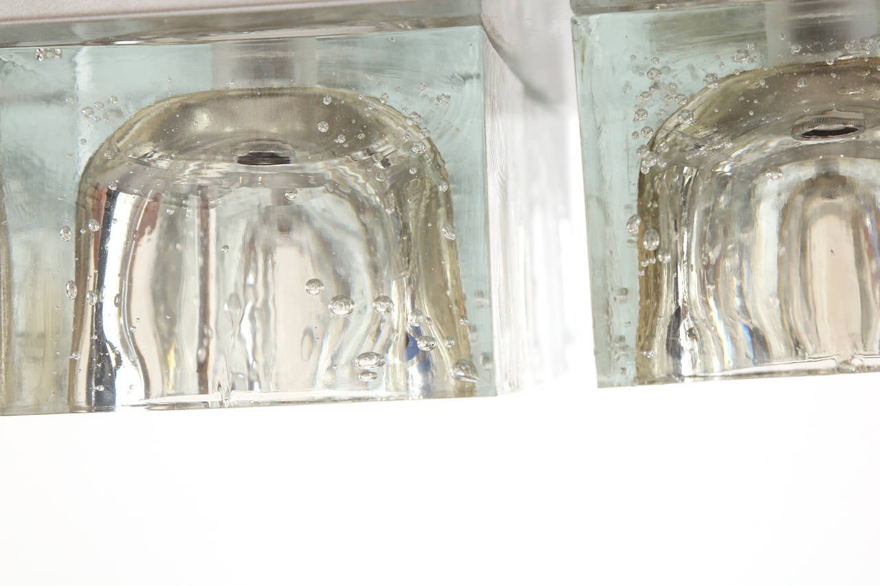 Three Crystal and Steel Sconces by Sciolari for Lightolier at 1stdibs