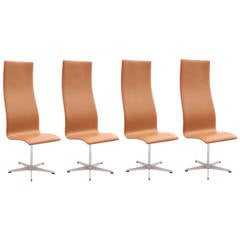 Four Arne Jacobsen High-Back Oxford Chairs
