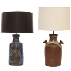 Large-Scale Ceramic Table Lamps by Soholm
