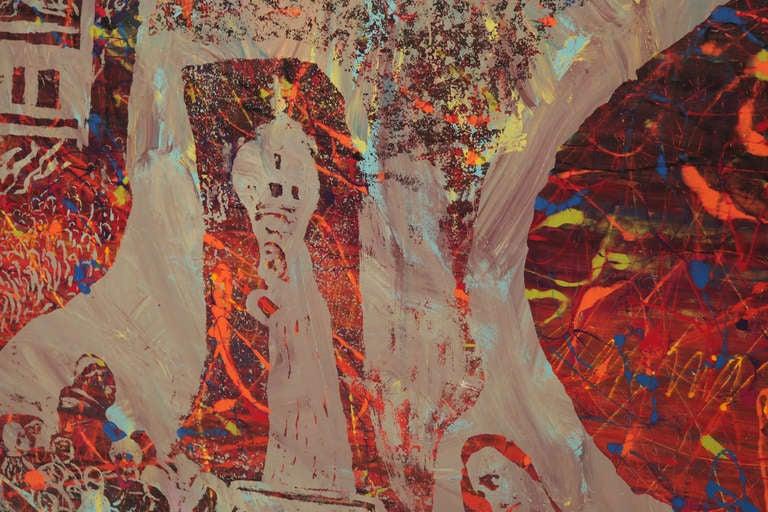 Mid-Century Modern Steven Sles Painting #1 For Sale