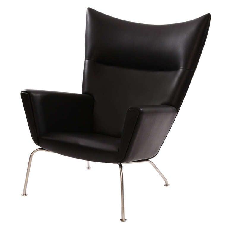 Carl Hansen Chairs hans wegner for carl hansen ch 445 leather lounge chair at 1stdibs