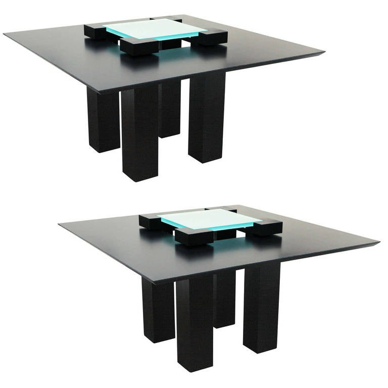 Pair of Modernistic Tables by Heidsieck, 1990's