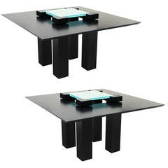Pair of Modernistic Tables by Heidsieck