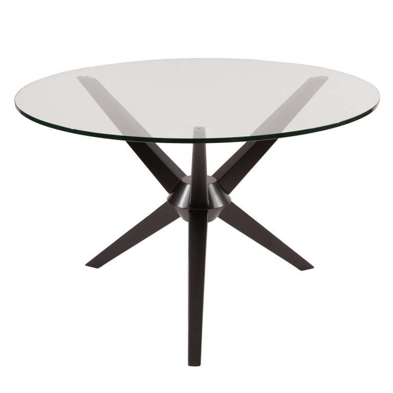 Sculptural Ebonized Maple Dining Table