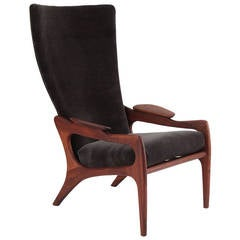 Adrian Pearsall High-Back Sculpted Walnut Lounge Chair