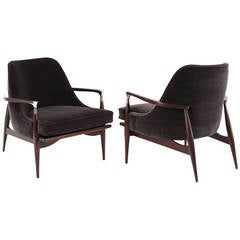 Sculptural Pair of Lounge Chairs by Ib Kofod-Larsen