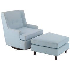 Fabulous Edward Wormley Dunbar Lounge Chair and Ottoman