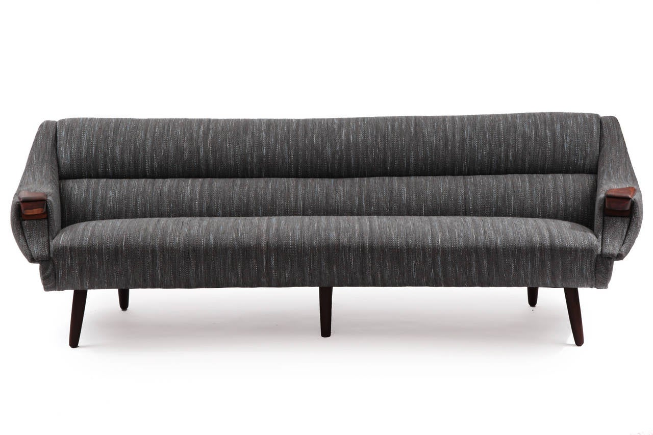 gorgeous curved free form sofa by h w klein at 1stdibs. Black Bedroom Furniture Sets. Home Design Ideas