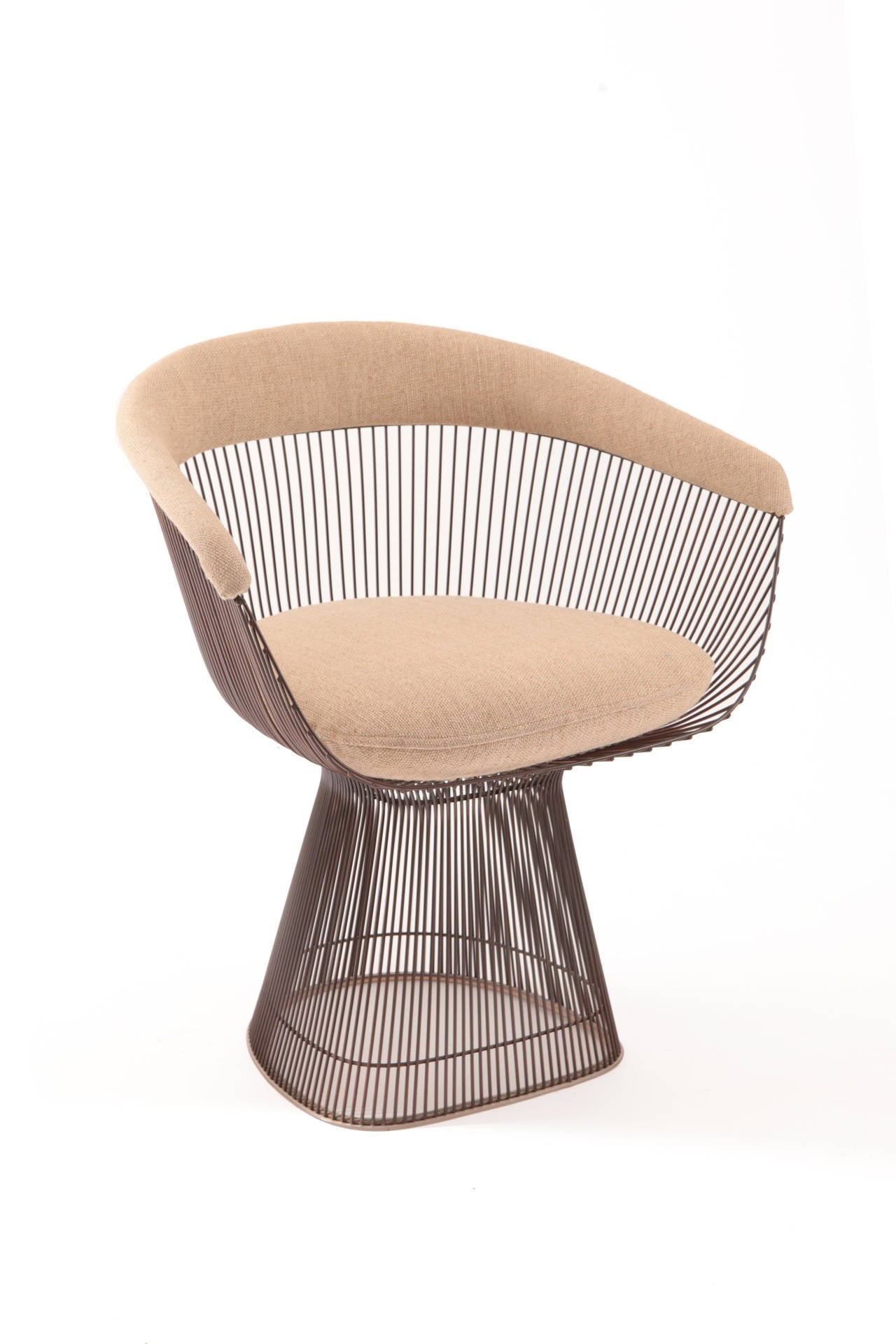 Warren Platner Knoll Bronze Dining Table and Chairs at 1stdibs