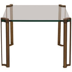 Bronze and Glass Table by Peter Ghyczy