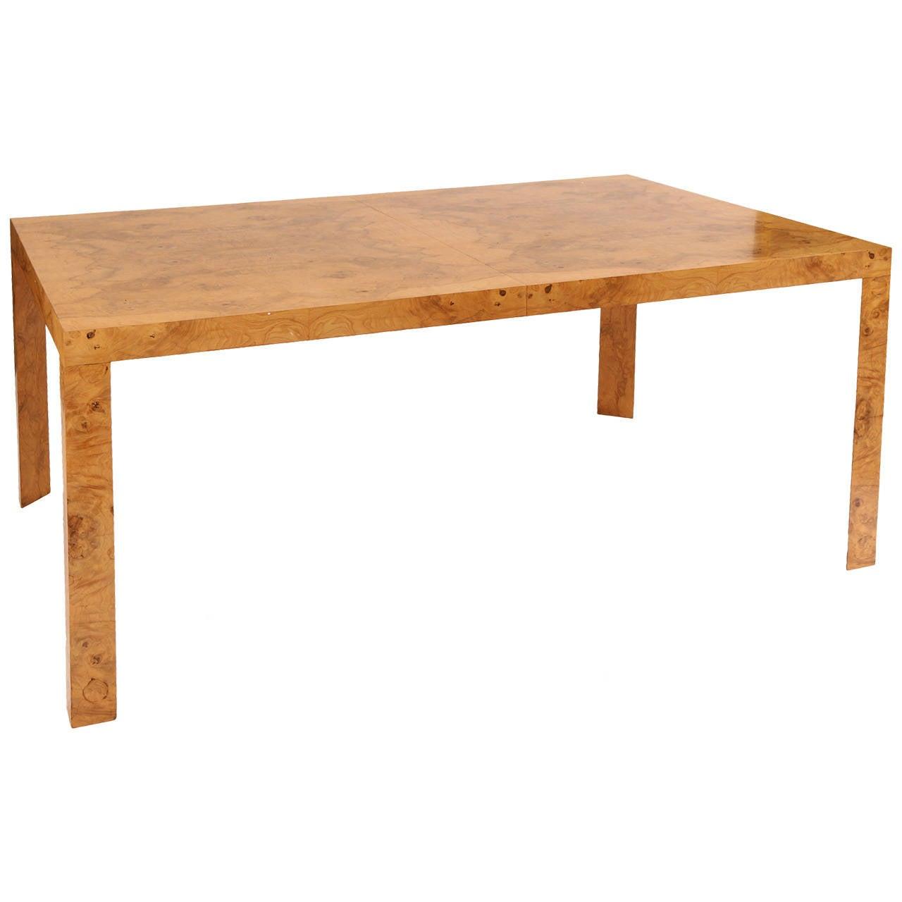 Edward wormley for dunbar burl wood dining table at stdibs
