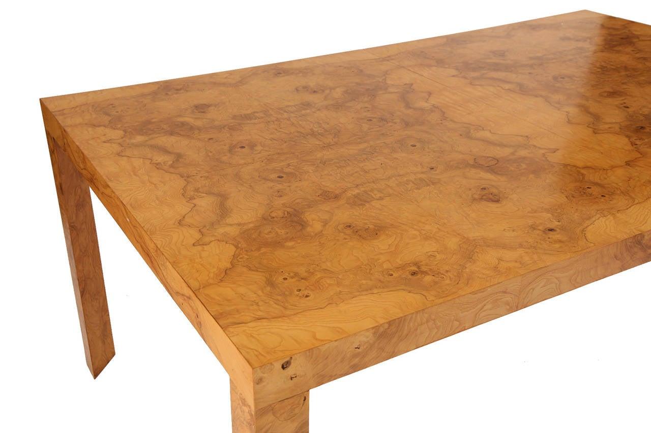 Charming Edward Wormley For Dunbar Burl Wood Dining Table 3