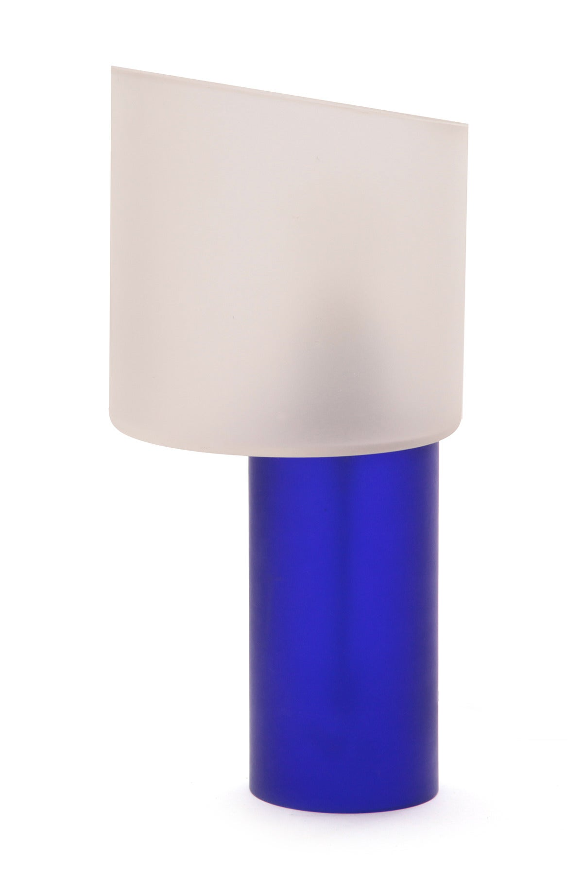 blue and frosted glass murano table lamp at 1stdibs. Black Bedroom Furniture Sets. Home Design Ideas