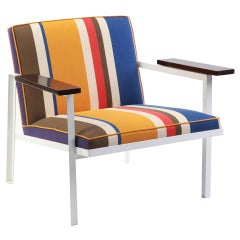 Rare George Nelson Steel Frame Lounge Chair