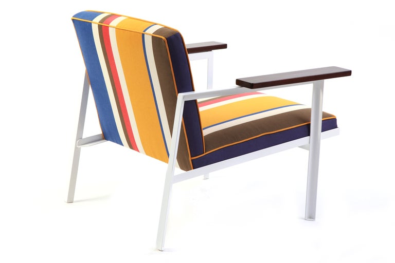 Rare George Nelson Steel Frame Lounge Chair At 1stdibs
