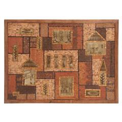 Large-Scale David Holleman 'Cityscape' Mosaic
