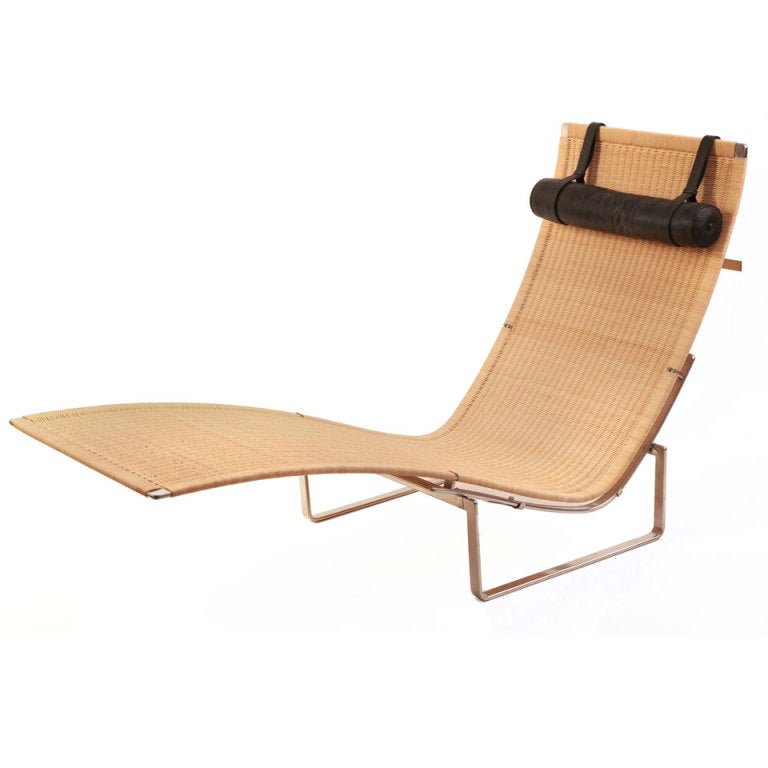 Chaise Longue by Poul Kjærholm for Fritz Hansen at 1stdibs