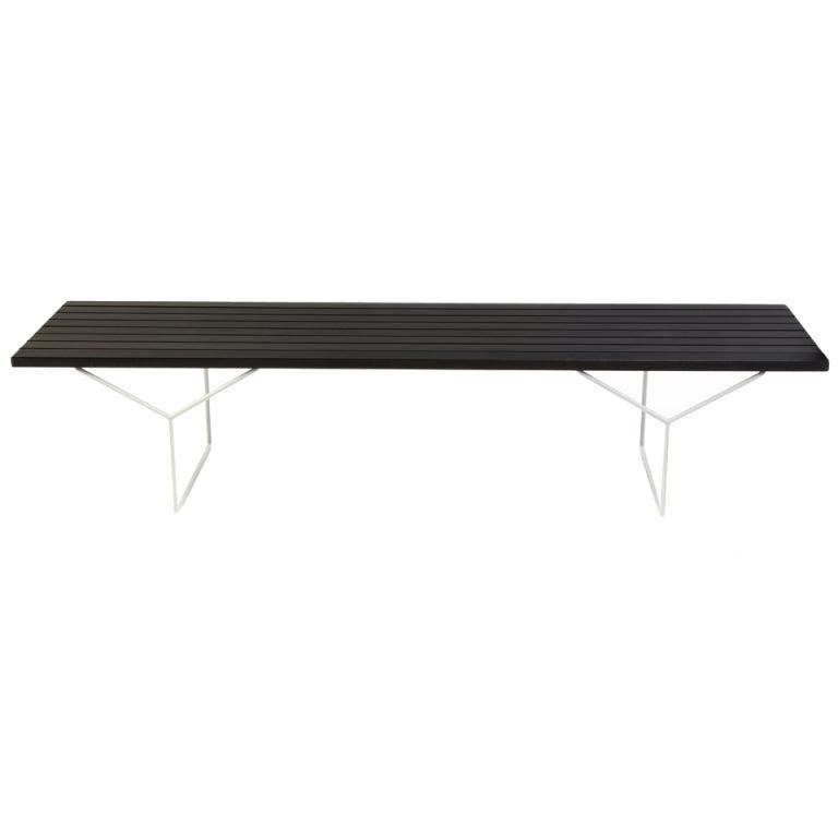 Ebonized mahogany and steel bench after harry bertoia at 1stdibs - Bertoia coffee table ...