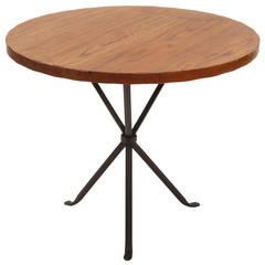 Rare Cleo Baldon Iron and Oak Occasional Table