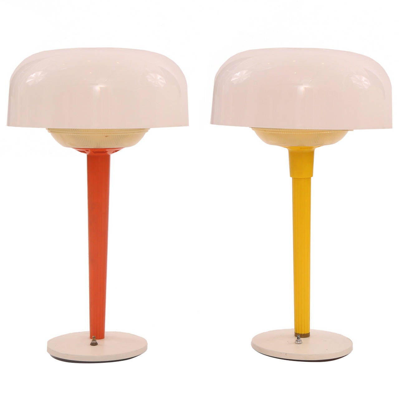 Whimsical Pair Of Laurel Table Lamps For Sale At 1stdibs