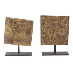 Pair of Harry Bertoia Gilded Bronze Sculptures