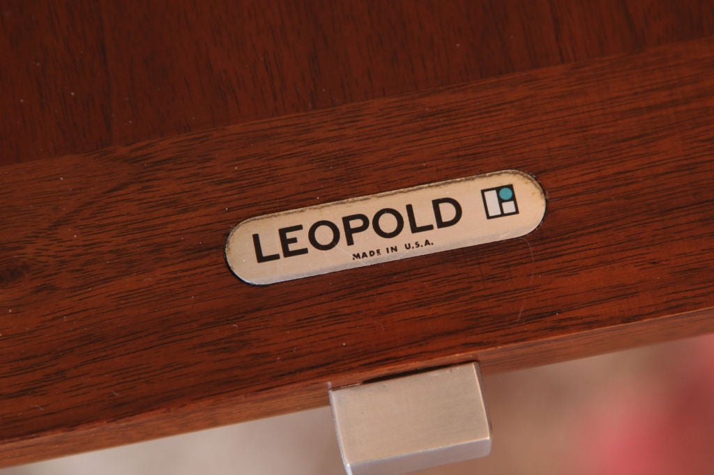 Lehigh Leopold Executive Desk in Walnut For Sale 1