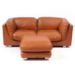 Butterscotch Leather Desede Sofa & Ottoman