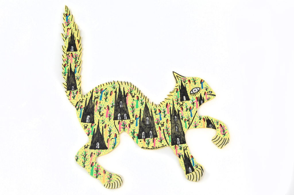 Howard Finster Home Guard Cat Outsider Art Sculpture 2