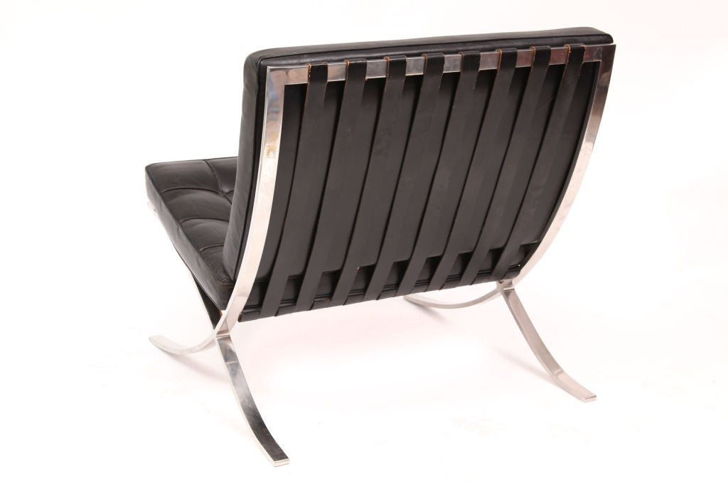 Metal Early Knoll Mies Van Der Rohe Barcelona Chairs