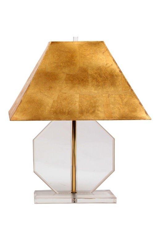 Pair of octagon lucite lamps circa late 1960's. These examples have 1.5