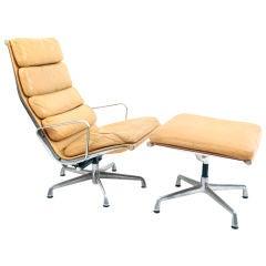 Eames Herman Miller Soft Pad Lounge Chair & Ottoman