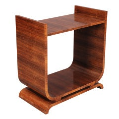 Art Deco Rosewood Table with Shelf
