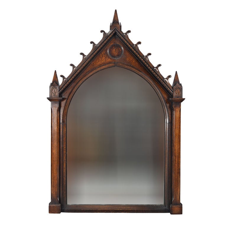 Oak Gothic Revival Frame At 1stdibs