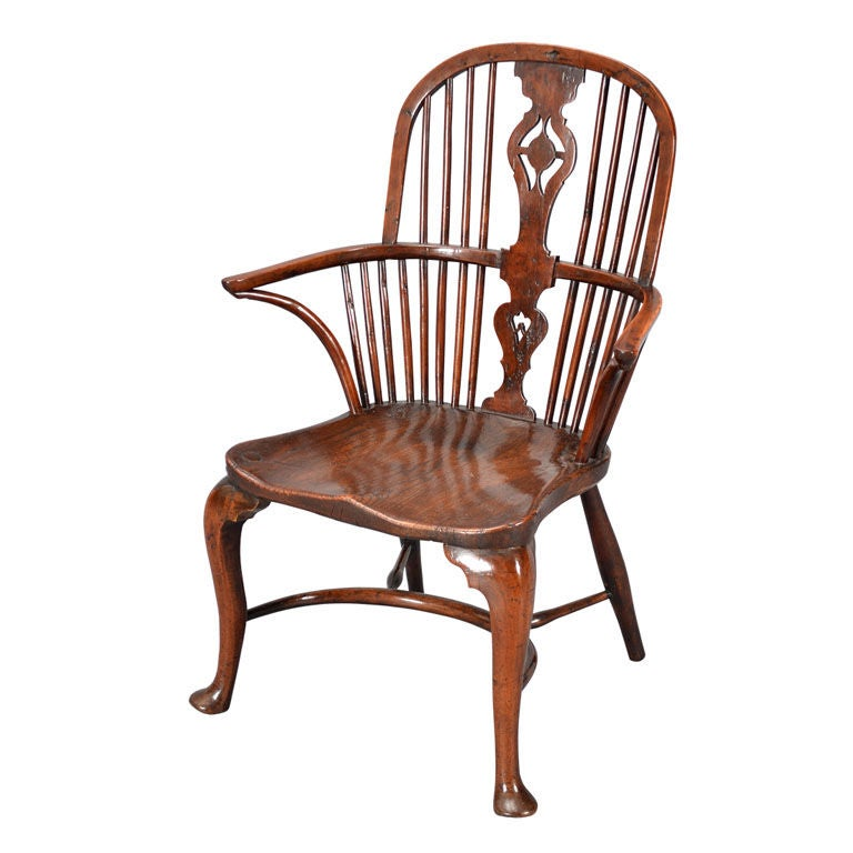18th Century Windsor Chair On Cabriole Legs At 1stdibs