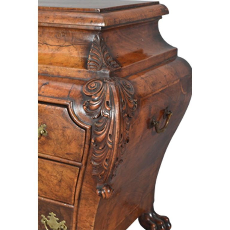 A rare dutch burl walnut sarcophagus commode at stdibs