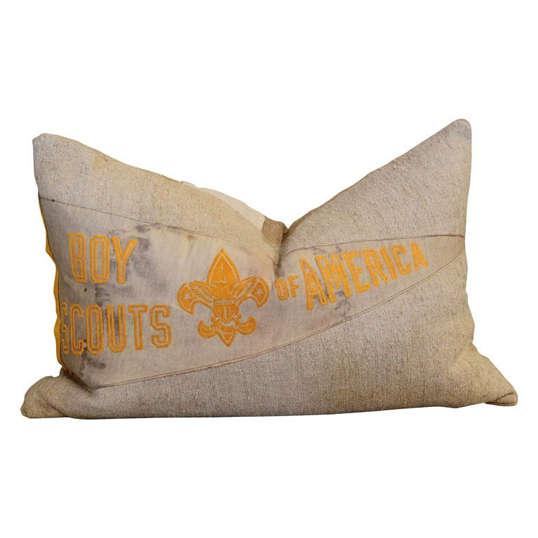 Boy Scout Penant Pillow At 1stdibs