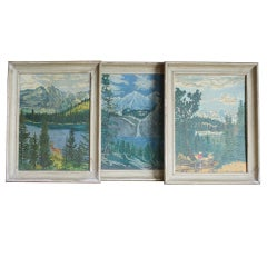 Set of 3 vintage paintings