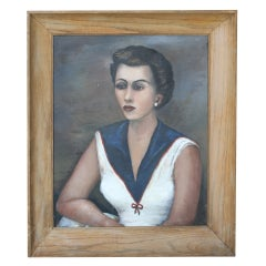 Vintage framed portrait of woman