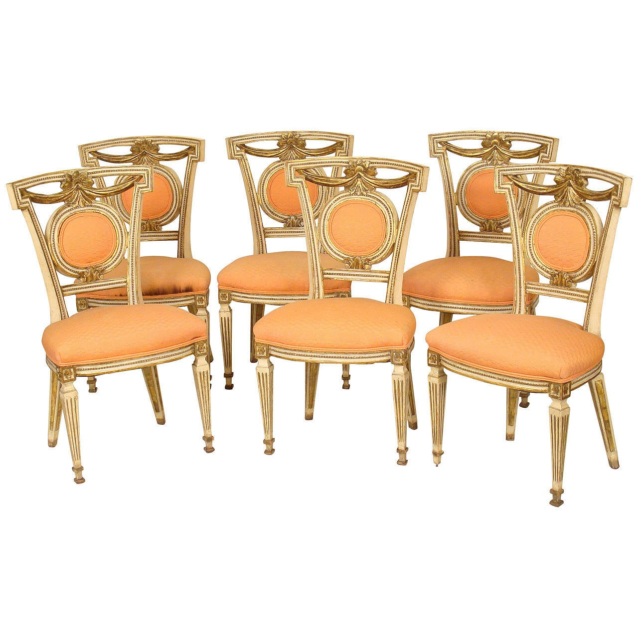Set Of Six Louis XVI Style Dining Room Chairs At 1stdibs