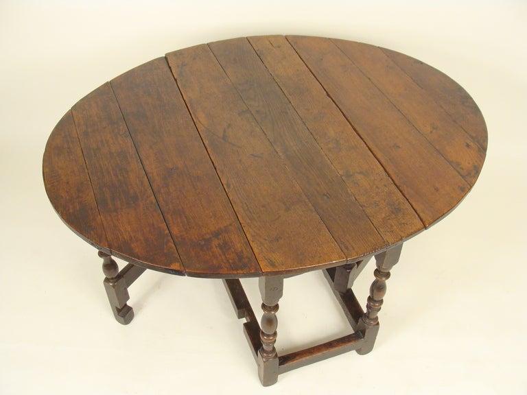 English Oak Gateleg Table At 1stdibs