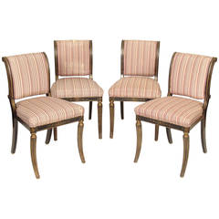 Set of Four English Regency Style Chairs