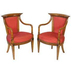 Pair of Directoire Style Armchairs