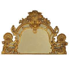 Gilt wood mirror fragment