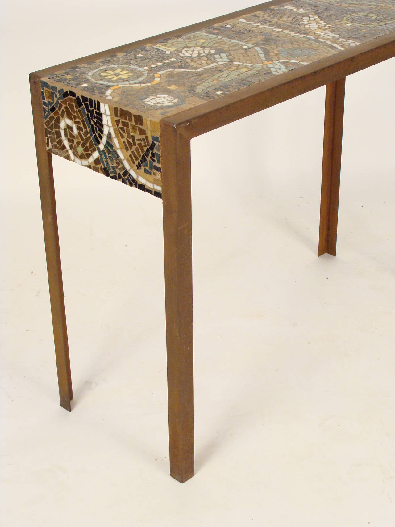 Tiled Console Table ~ Mosaic tile top console table at stdibs