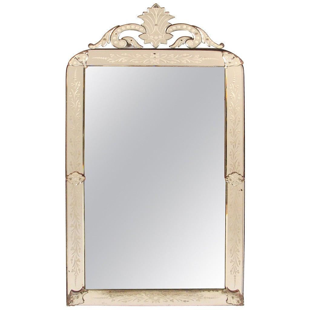 Antique louis philippe style venetian mirror at 1stdibs for Old style mirror