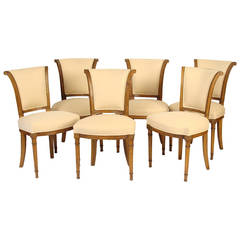 Set of Directoire Style Dining Room Chairs